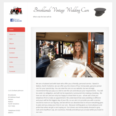 Brooklands Vintage Wedding Cars